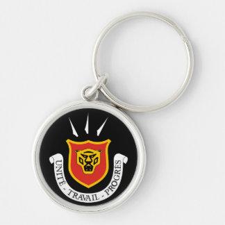 burundi emblem Silver-Colored round keychain