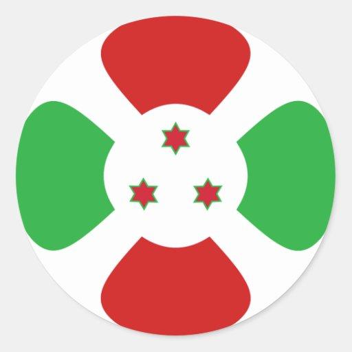 Burundi Fisheye Flag Sticker