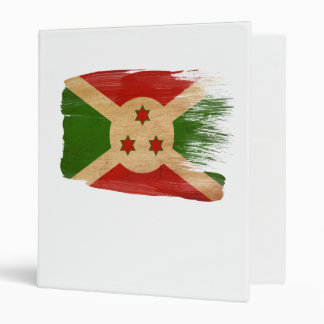 Burundi Flag 3 Ring Binder