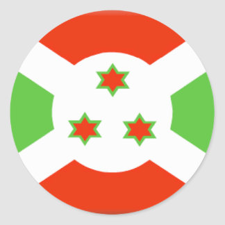 Burundi Flag Classic Round Sticker