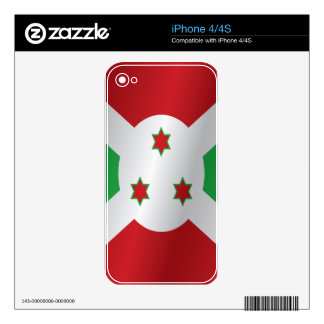 Burundi flag decals for the iPhone 4S