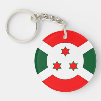 Burundi Flag Double-Sided Round Acrylic Keychain