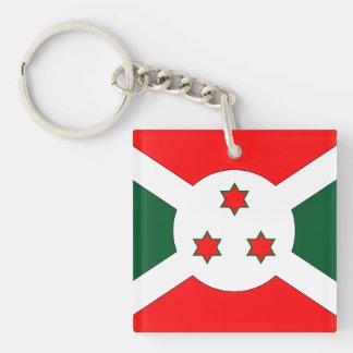Burundi Flag Double-Sided Square Acrylic Keychain