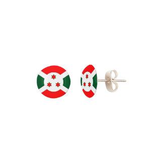 Burundi Flag Earrings
