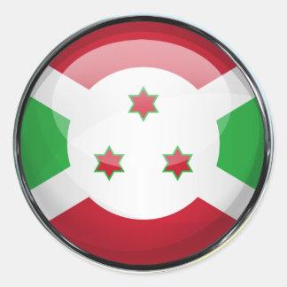Burundi Flag Glass Ball Classic Round Sticker