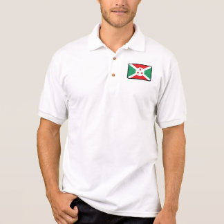 Burundi flag golf polo