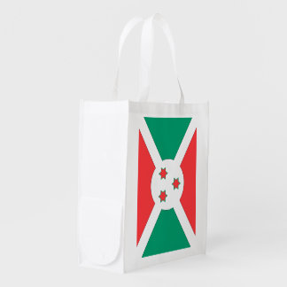 Burundi Flag Grocery Bags