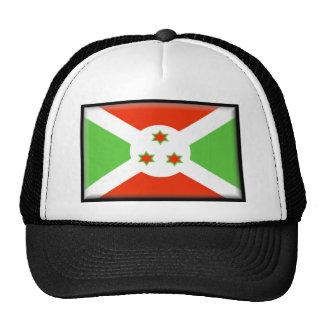 Burundi Flag Mesh Hats