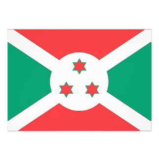 Burundi Flag Personalized Announcements
