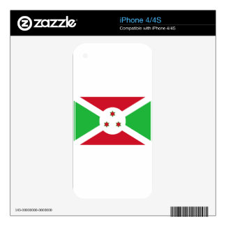 Burundi Flag iPhone 4 Skins