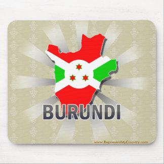 Burundi Flag Map 2.0 Mouse Pads