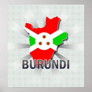 Burundi Flag Map 2 0 Print
