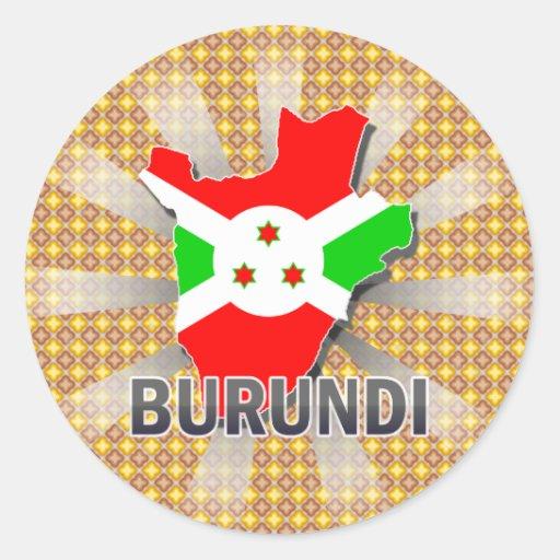 Burundi Flag Map 2.0 Sticker