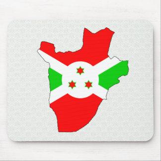 Burundi Flag Map full size Mousepads