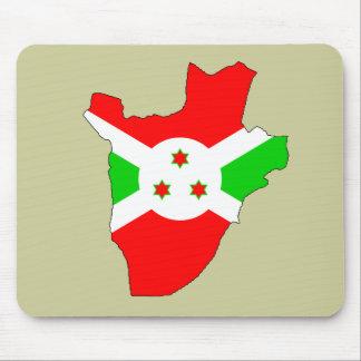 Burundi flag map mouse pad