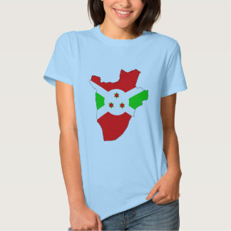 Burundi flag map shirt