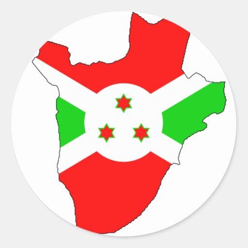 Burundi flag map sticker