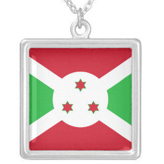 Burundi Flag Necklace