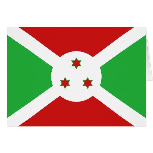 Burundi Flag Notecard Greeting Cards
