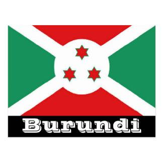 Burundi flag postcard