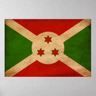 Burundi Flag Print
