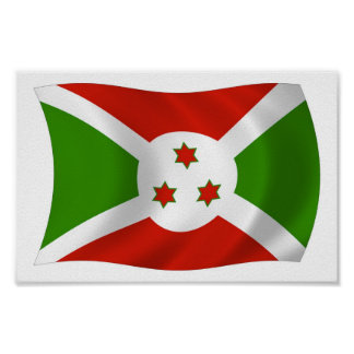 Burundi Flag Poster Print