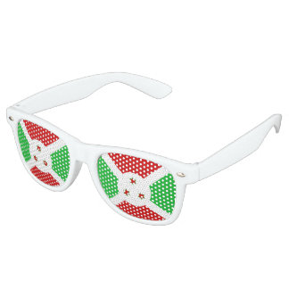 Burundi Flag Retro Sunglasses
