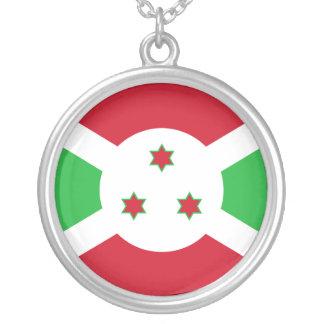 Burundi Flag Round Pendant Necklace