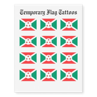 Burundi Flag Temporary Tattoos
