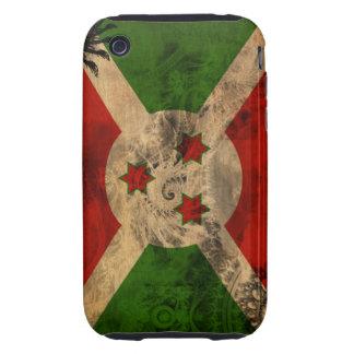 Burundi Flag Tough iPhone 3 Case