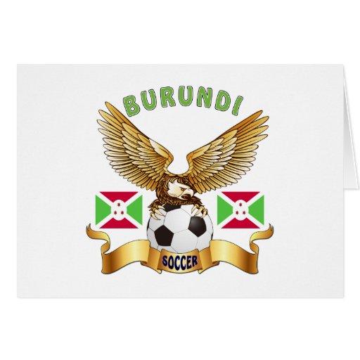 Burundi Football Designs Cards