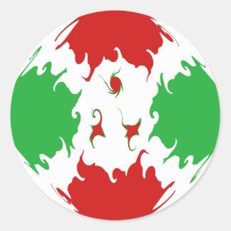 Burundi Gnarly Flag Classic Round Sticker