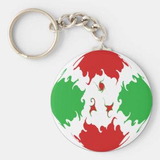Burundi Gnarly Flag Keychain