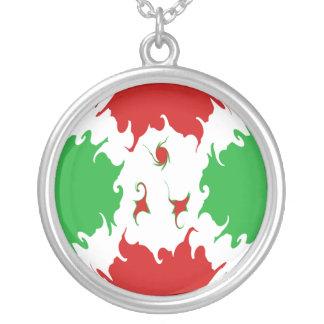 Burundi Gnarly Flag Round Pendant Necklace