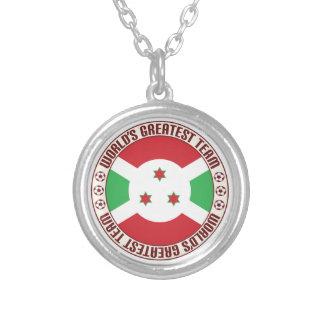 Burundi Greatest Team Round Pendant Necklace