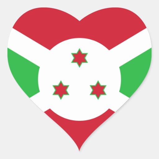 burundi heart sticker
