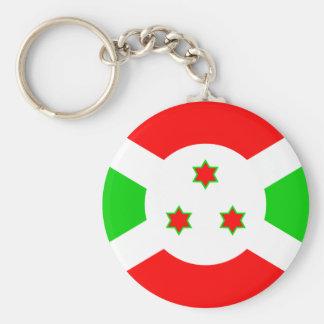 Burundi High quality Flag Basic Round Button Keychain