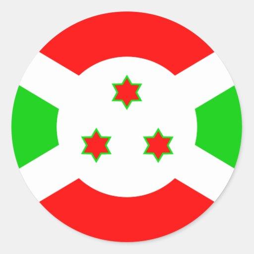 Burundi High quality Flag Round Stickers