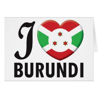 Burundi Love Greeting Cards