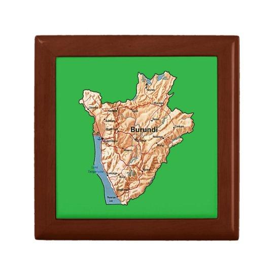 Burundi Map Gift Box