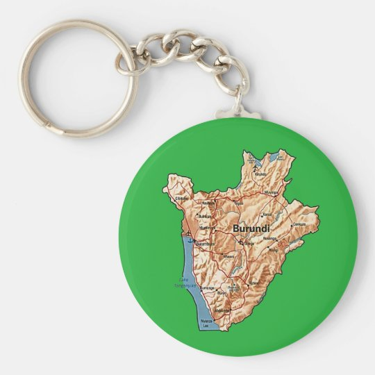 Burundi Map Keychain