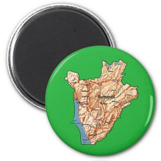 Burundi Map Magnet