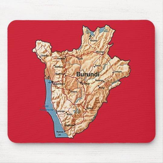 Burundi Map Mousepad