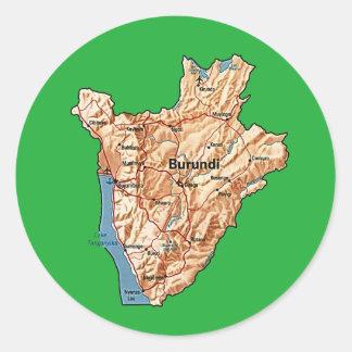 Burundi Map Sticker