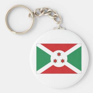 Burundi National Flag Basic Round Button Keychain