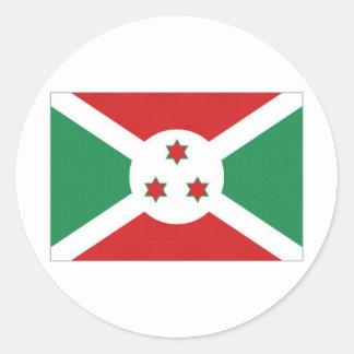 Burundi National Flag Classic Round Sticker