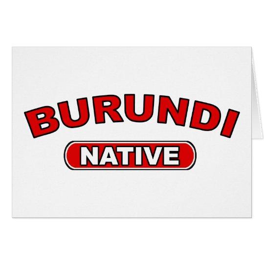 Burundi Native Card