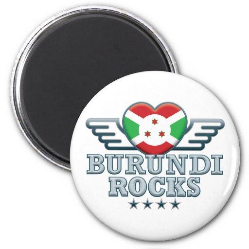 Burundi oscila v2 imán de frigorífico