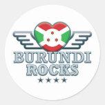 Burundi oscila v2 pegatinas redondas