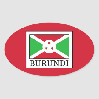 Burundi Oval Sticker